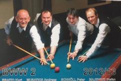 BWW2 2012/13, v.l.n.r.: Braito, Musatics, Schnöll, Majewski
